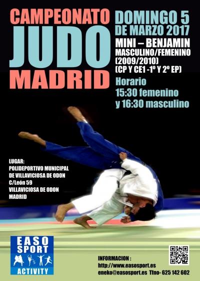 Campeonato de Judo en Madrid: mini-benjamín
